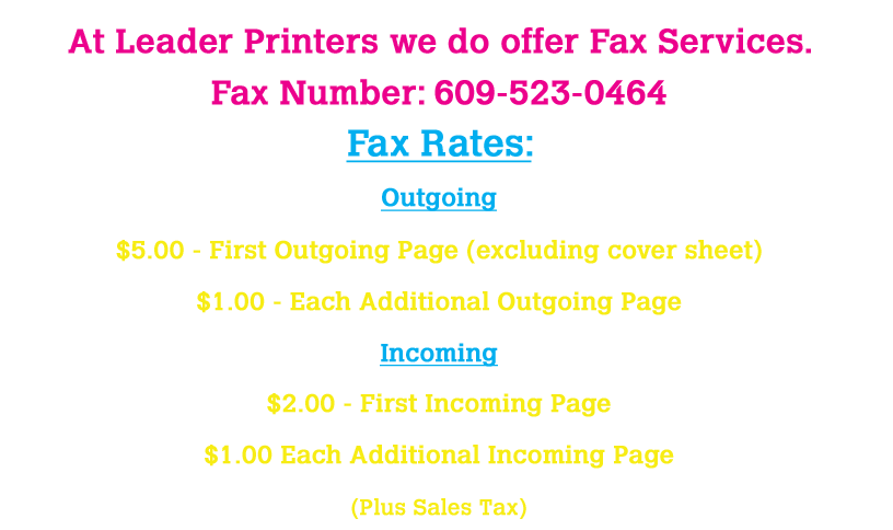 FaxPricing